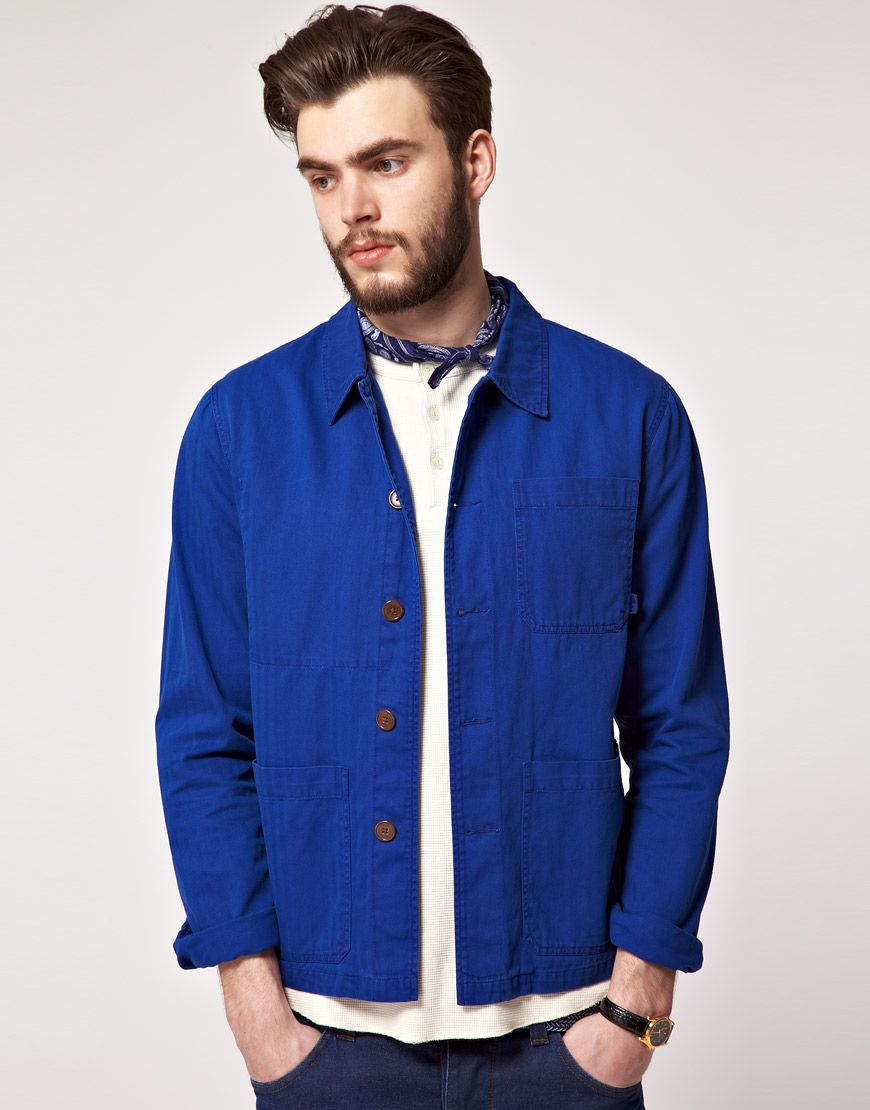 cedf6564d6 Asos French worker jacket i would totally wear this even tho its made for  guys