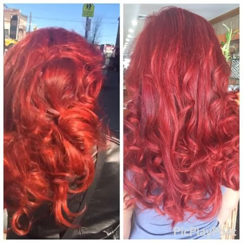 Hair of the day bright red hair rizosspa hairbydamaris hair hair of the day bright red hair rizosspa hairbydamaris hair hairstyles pmusecretfo Choice Image