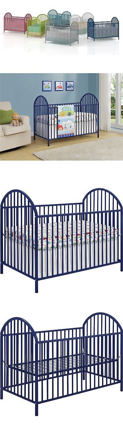 Changing Tables 20424: Cosco Products Prism Metal Crib, Blue -> BUY ...
