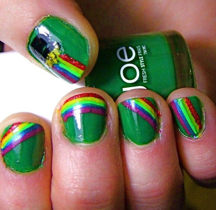 Diy st patricks day nail design st patricks day rainbow nails diy st patricks day nail design st patricks day rainbow nails st solutioingenieria Choice Image