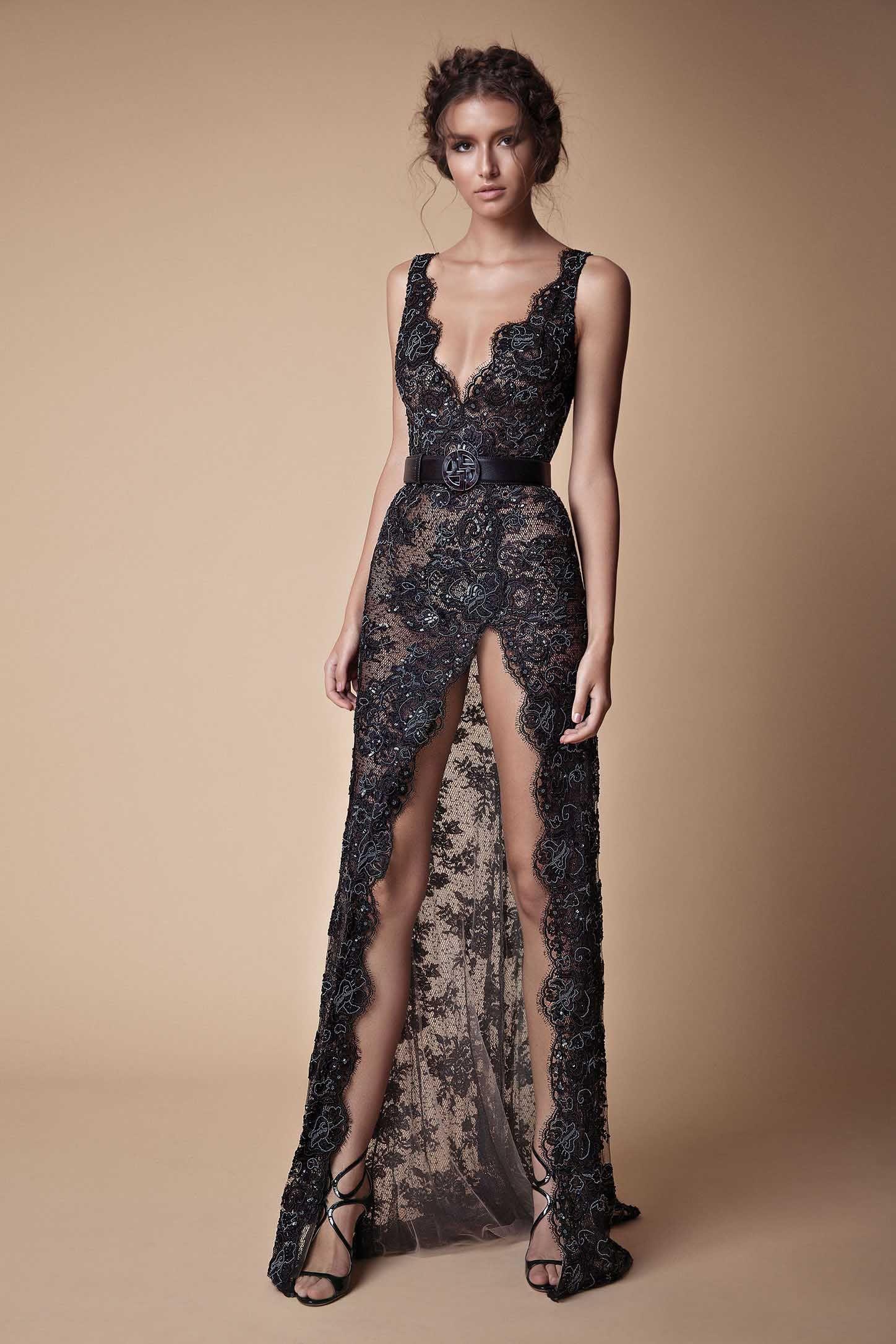 B l a c k abbigliamento pinterest split prom dresses