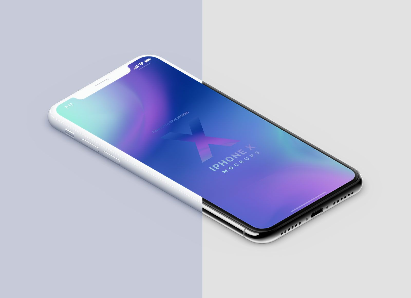 Download Free Isometric Clay Realistic Iphone X Mockups Freebies Display Free Graphic Design Iphone Iphone X Isometric Mobile Mockup Prese Mockup Psd Iphone Isometric