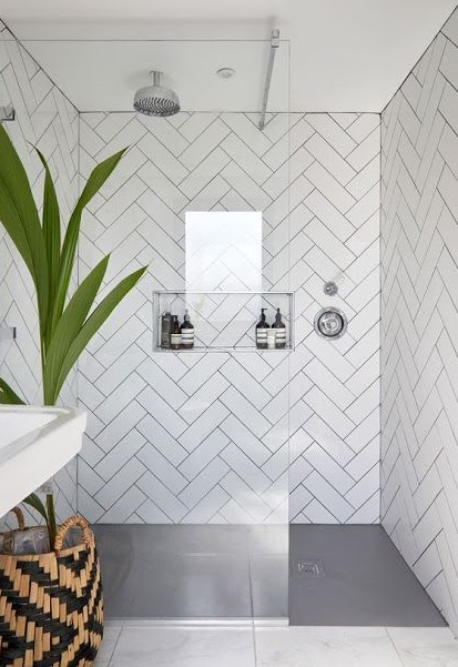 Douche Italienne Carrelage Blanc In 2020 Industrial Style