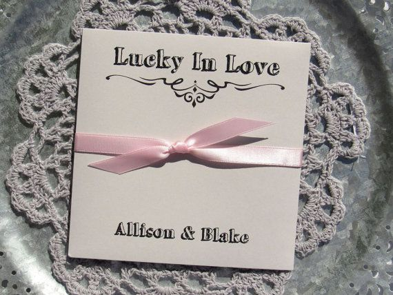 Wedding Favors Grey Lucky In Love Summer Lottery Ticket Lotto Favor Rustic