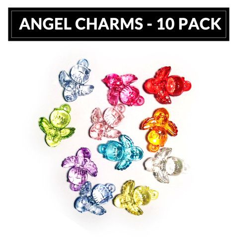 Angel Loom Band Charms - 10 Pack Order your Loom Charms at www.loomkits.com.au! Free postage Australia Wide for orders over $15!