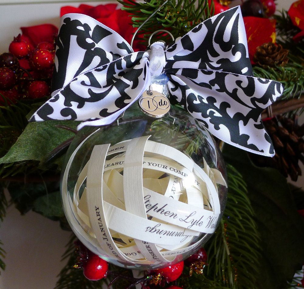 Wedding Invitation Christmas ornament, Just married, christmas, Mr ...