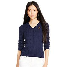 Buy Polo Ralph Lauren Kimberly V Neck Cable Knit Jumper