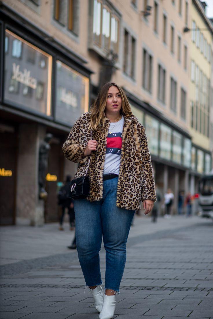 Faux Fur Leopard Coat | Leoparden Muster Plus Size Mode