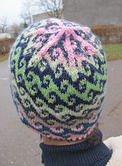 4ec24660311 A charted wave pattern. Use my Ovals hat pattern and plug in this chart to  make the wave hat pictured. Free pattern on Ravelry