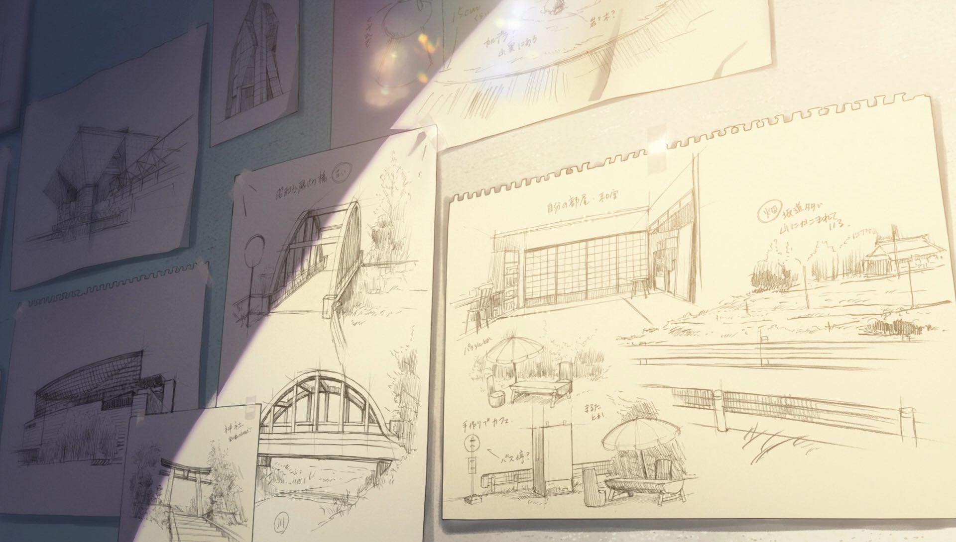 Your Name 100 Original Background Collection Kimi No Na Wa Anime Scenery Background