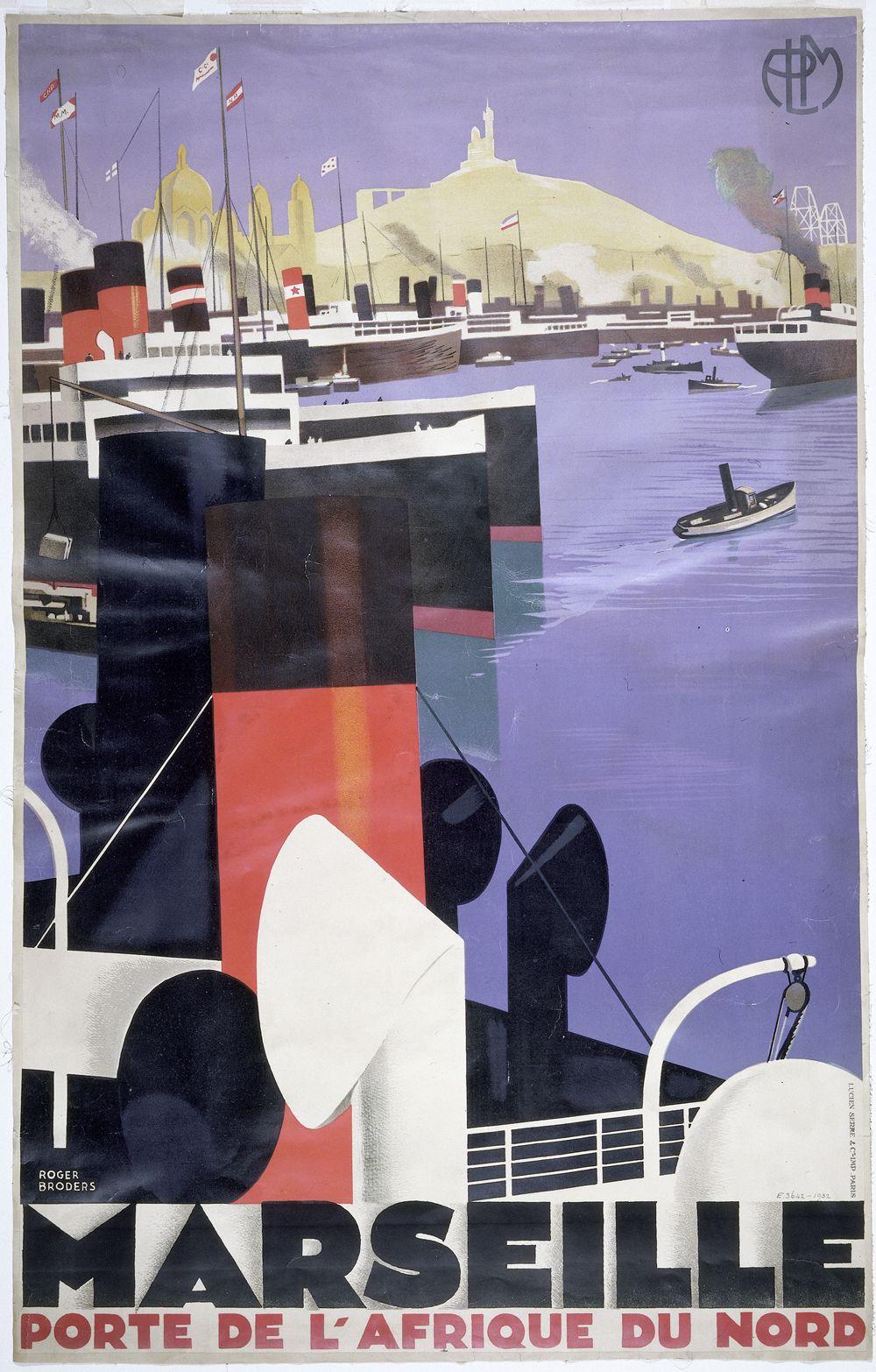 Famous art deco travel posters the for Famous art deco art