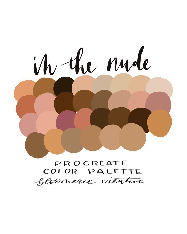 In the nude / Blushes / Skin tones / Procreate color palette / | Etsy