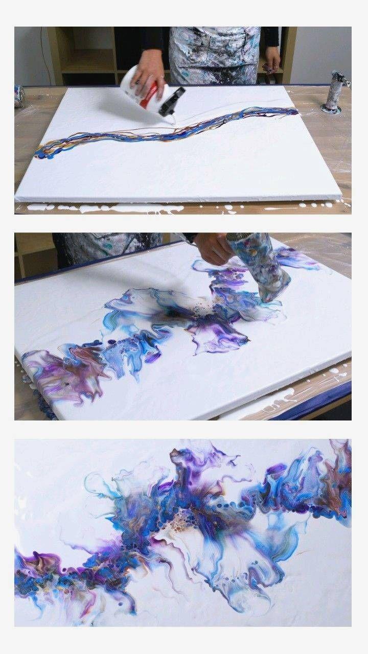 Tutorial Huge acrylic dutch pour by rinske douna - #abstractart