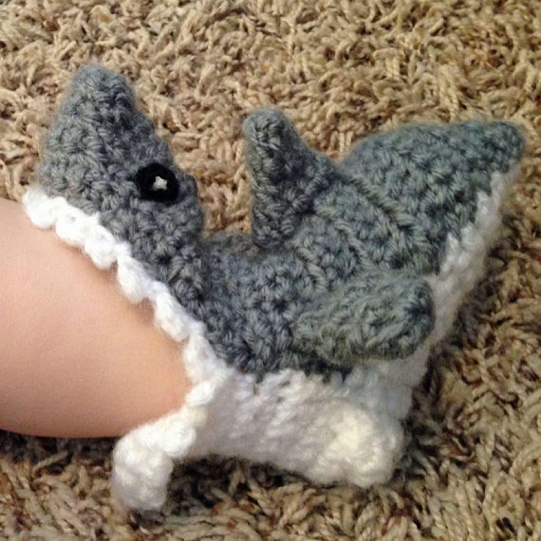 Cute baby shark socks for $16.99! https://www.etsy.com/listing ...
