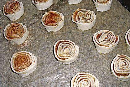 Zimtschnecken aus Blätterteig #recipeforpuffpastry