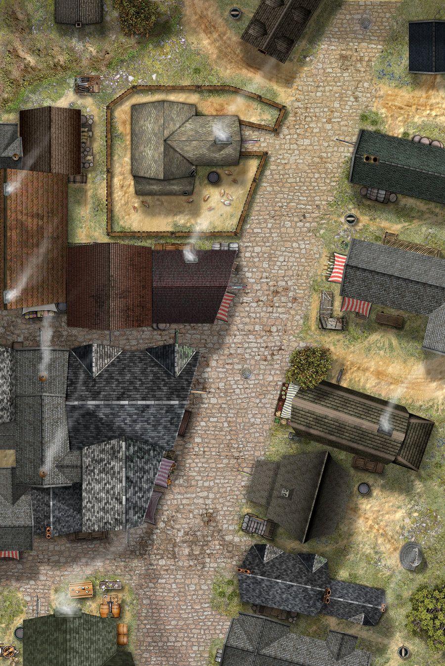 Dnd Street Map : street, Street, Hero339, DeviantART, Fantasy, Tabletop, Maps,