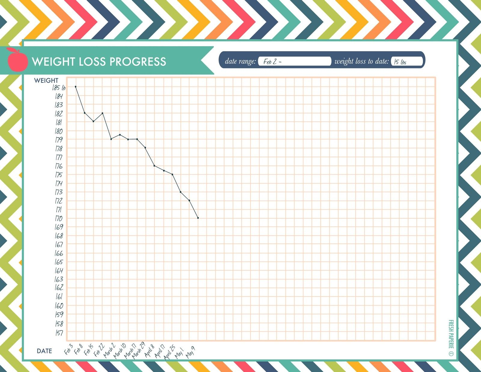 Weight loss progress chart printable download thanks for pinning my printables visit me at freshpaperie to sign up newsletter and receive free also rh pinterest