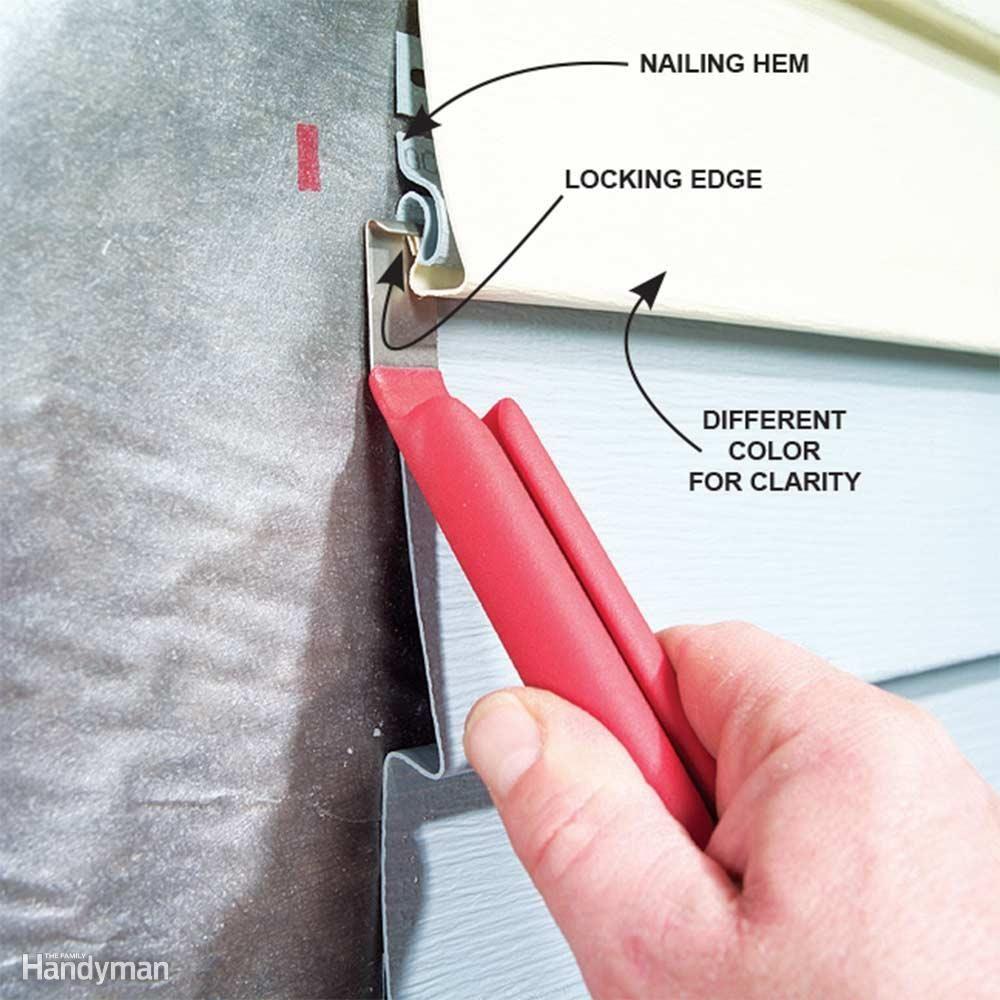 how to remove vinyl siding hooks