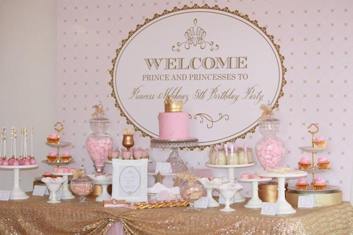 pink and gold birthday decorations pink and gold royal princess 5th birthday
