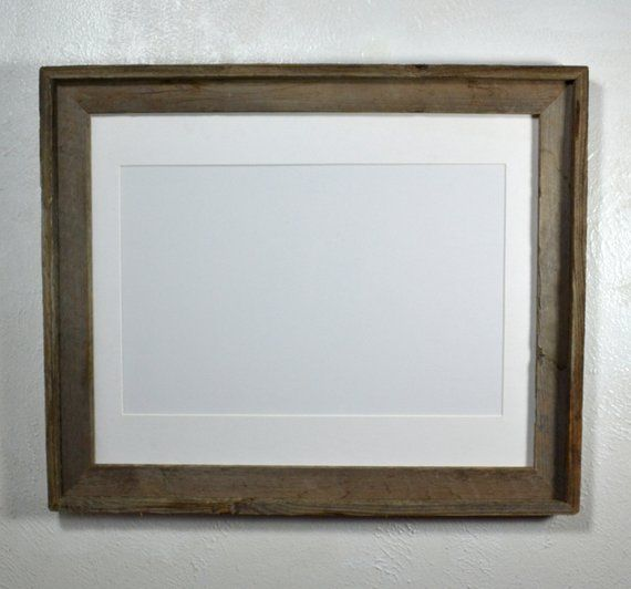 11x17 White Mat In Earthy Wood Frame 20 Mat Colors 11x14 11x17 12x16 Or 12x18 Mat Options Frame Wood Rustic Walls