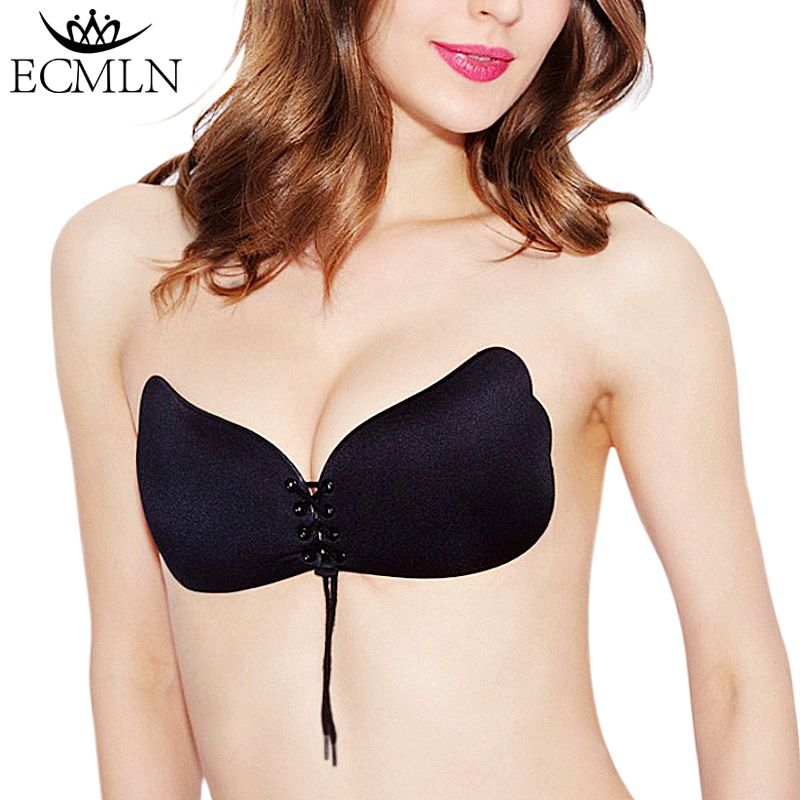 Women Strapless Invisible Bra Silicone Self-Adhesive Push Up Wings Sticky Bras /&