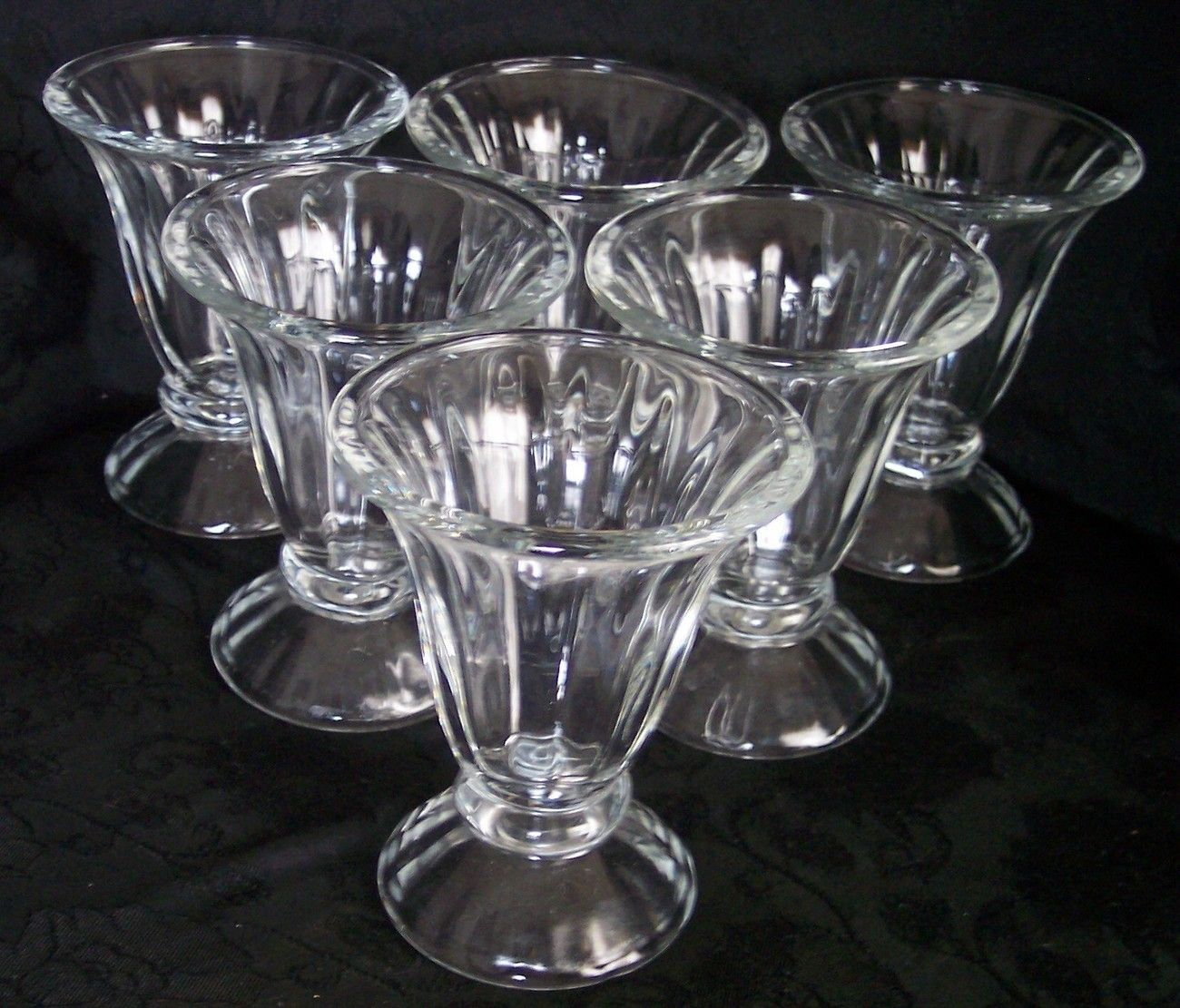 Set of 8 Libbey Crystal Clear Glass Footed Parfaits, Ice ...