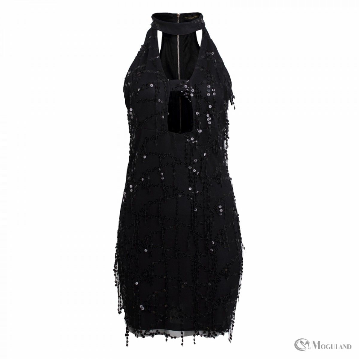7e157e262e Ladies black sequin halterneck plunge dress wholesale - dresses ...