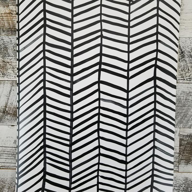 Cat Coquillette Black And White Herringbone Peel And Stick Wallpaper Peel And Stick Wallpaper Funky Wallpaper Wallpaper