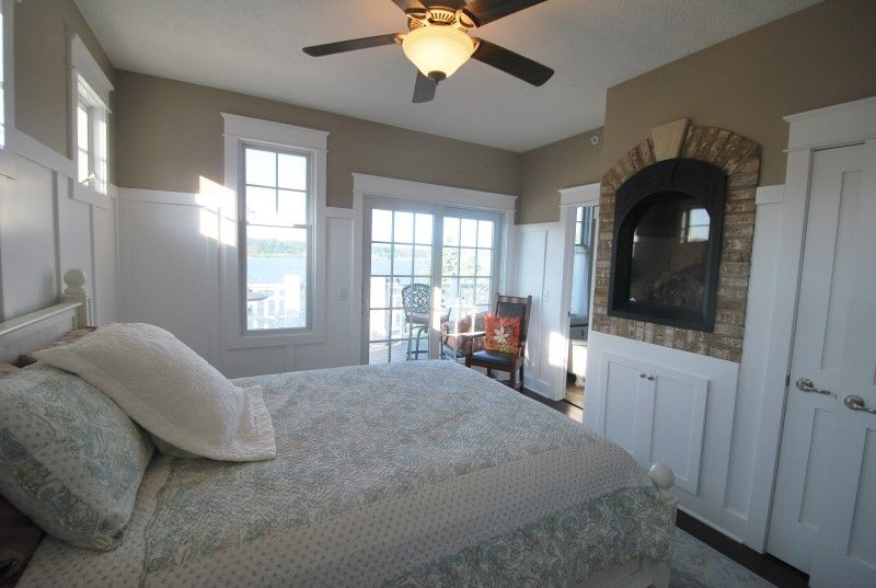Master bedroom equipped with queen bed full bathroom