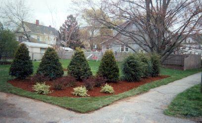 Corner Landscaping Berm Corner Landscaping Rustic Landscaping Front Yard Outdoor Landscape Design