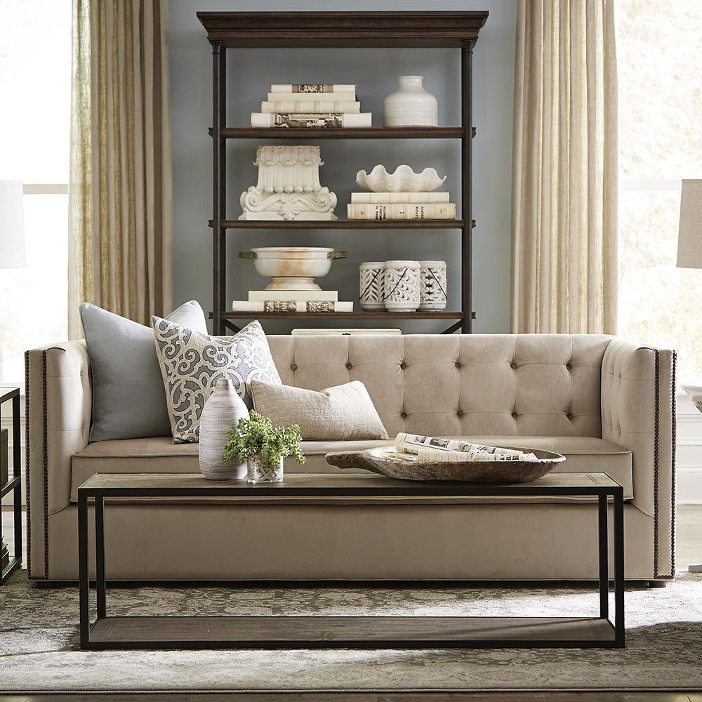 Torrance California Bassett Furniture Classic Tufted Sofa Customizable  Modern