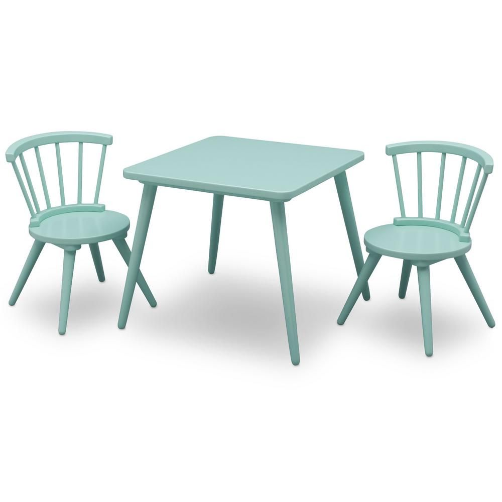 childrens table and chairs dining room chair slip covers canada delta children aqua blue windsor 2 set products