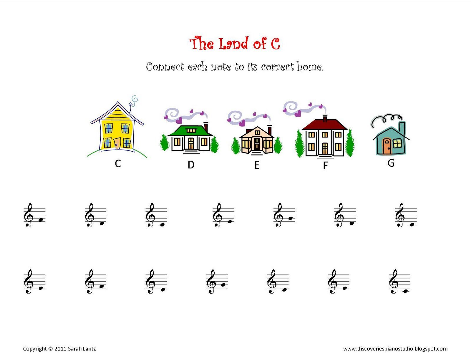 Color the Piano Keys sheet from The Plucky Pianista | Piano Lesson ...