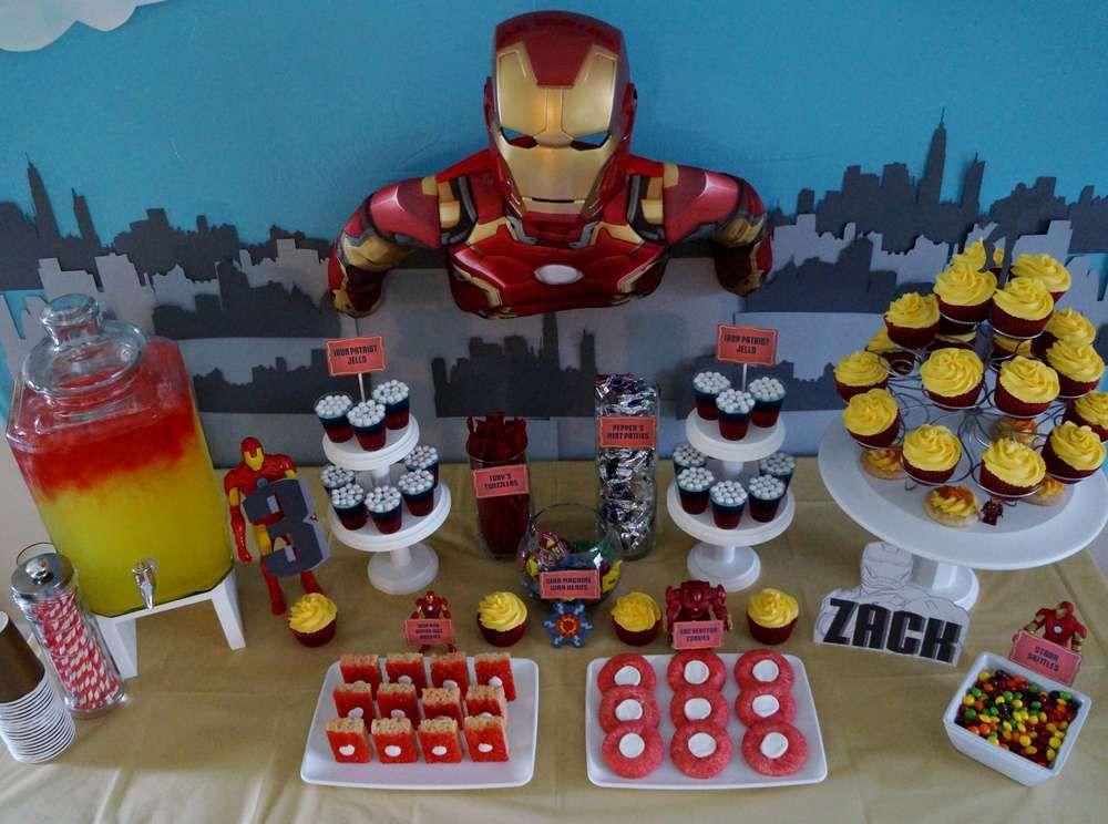 Avengers Iron Man Birthday Party Ideas Iron man birthday Men