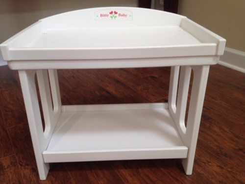 Retired Bitty Baby #american Girl Doll Changing Table #furniture #white,  View More