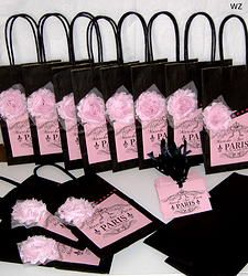 12 Sets of French Market Paris Party Favor Bags