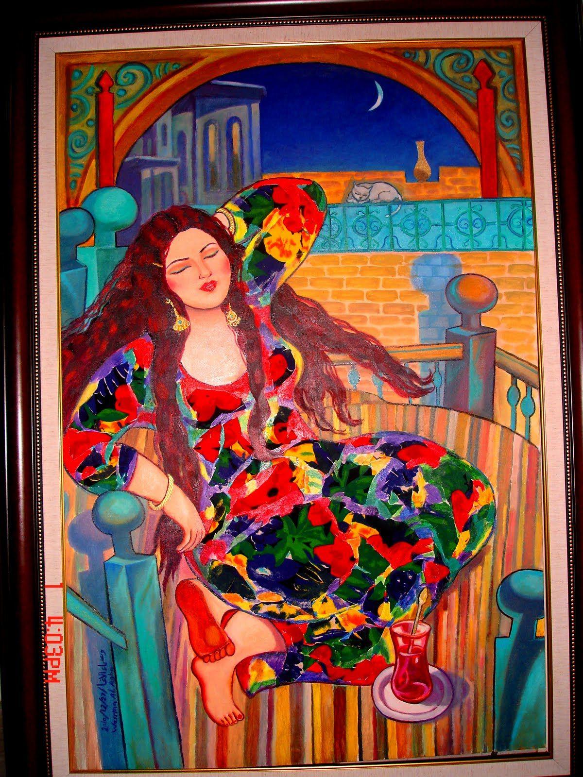 Pin By Lemise Kassim On Folklore Art Folklore Art Arabic Art Painter Artist