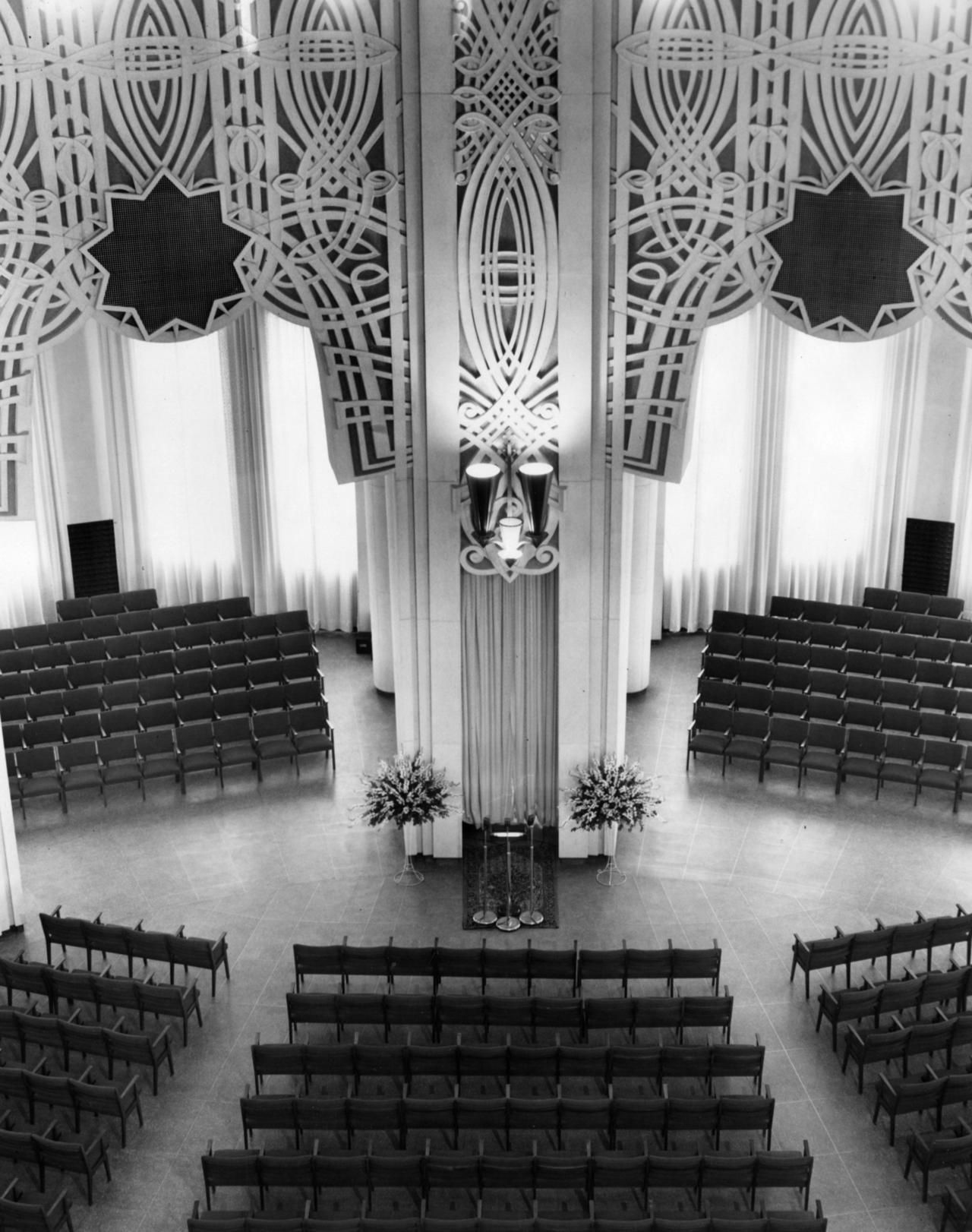 May 4, 1953 Interior view shows seating and the reading