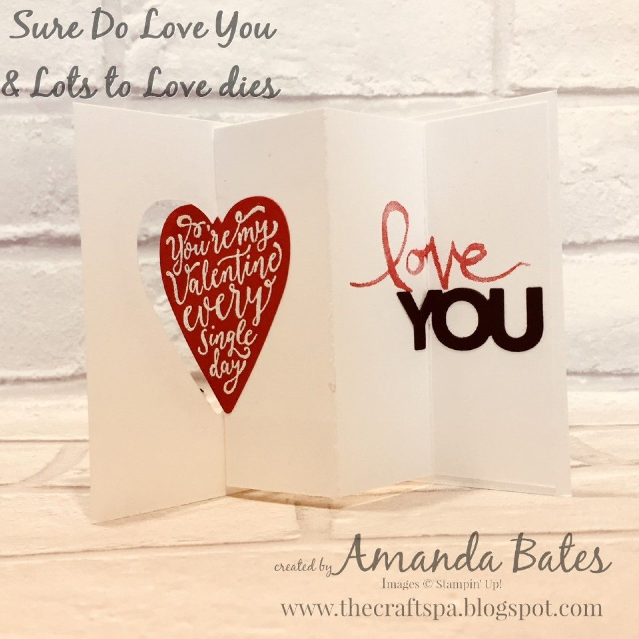 Mini Pop Out Swing Card Featuring Sure Do Love You By Amanda Bates