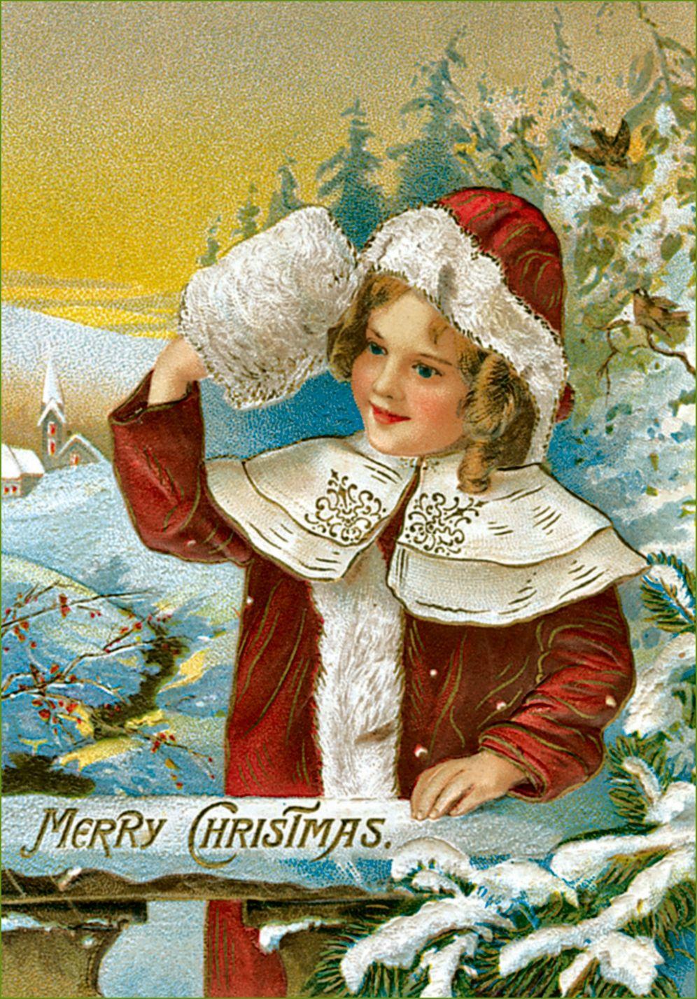 holidays mary christmas cards text amp clip artvintage