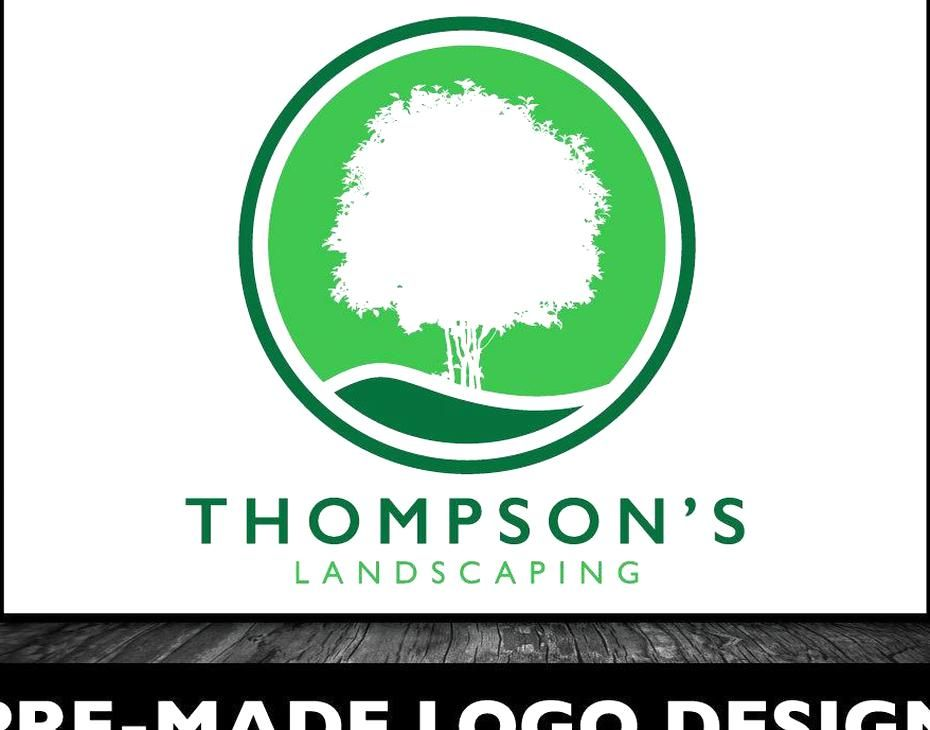 Tree Icon Logo Green Logo Design Tree Service Logo Arbor Logo Professional Logo Tree Design Trees Landscaping Logo Design Thompsons Landscape