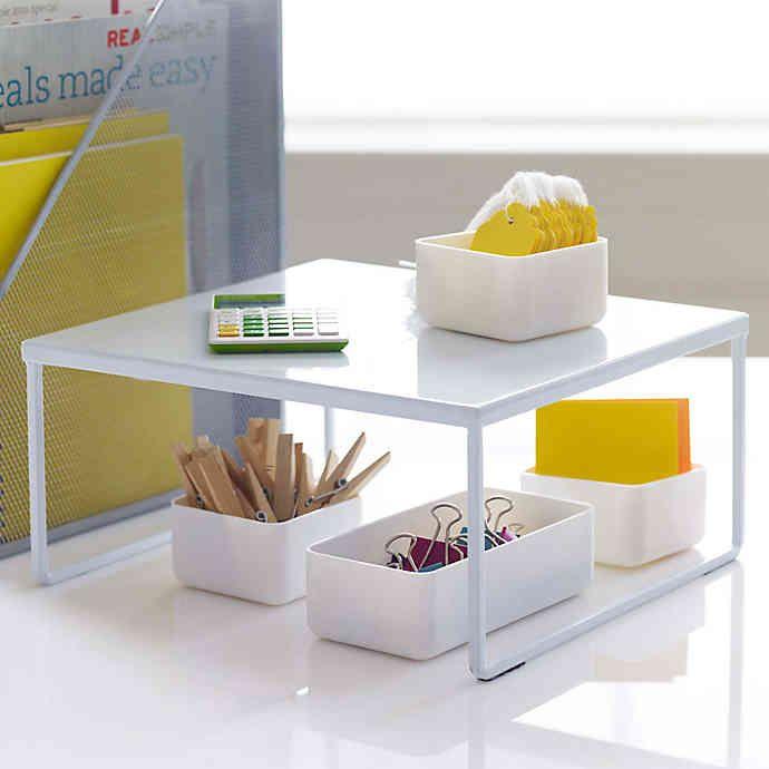 Best Franklin™ Metal Desk Riser In White Desk Riser Small 400 x 300