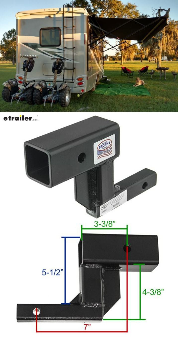 Hitch Adapter 1 4 To 2 Trailer Receiver With 5 Rise And When I Plug The Into Truck They Lock Up Etrailercom This Works Great We Use Our Segway Pt Double Carrier On Back Of Class C Rv Very Sturdy Height Allows Us