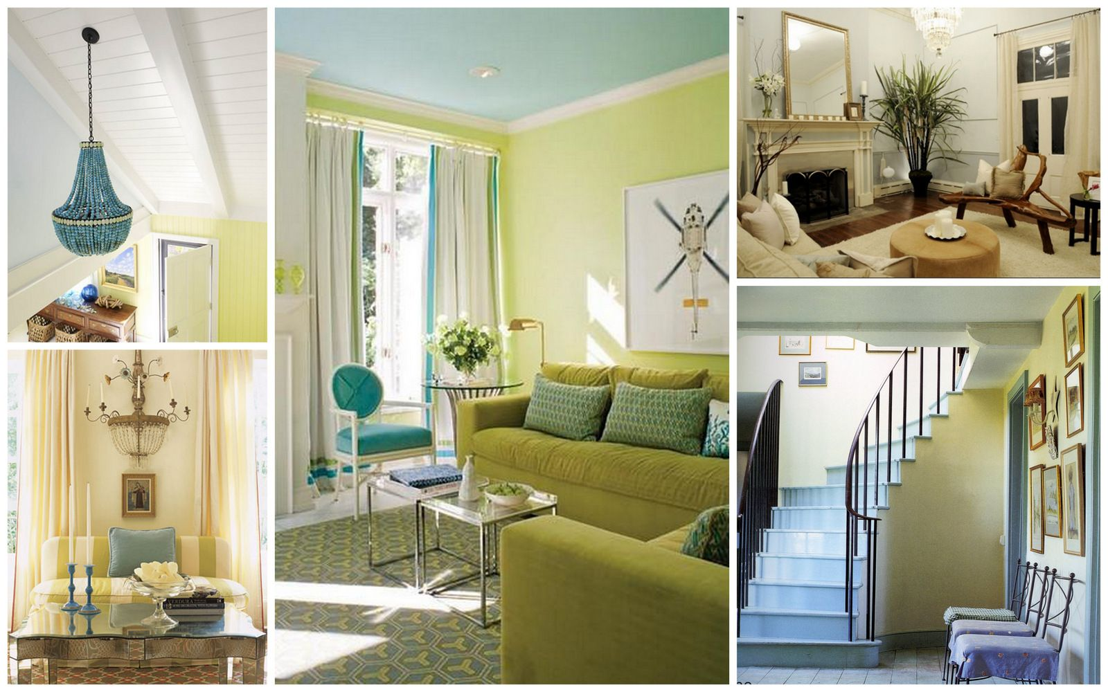 how to decorate with aqua blue and key lime green  home