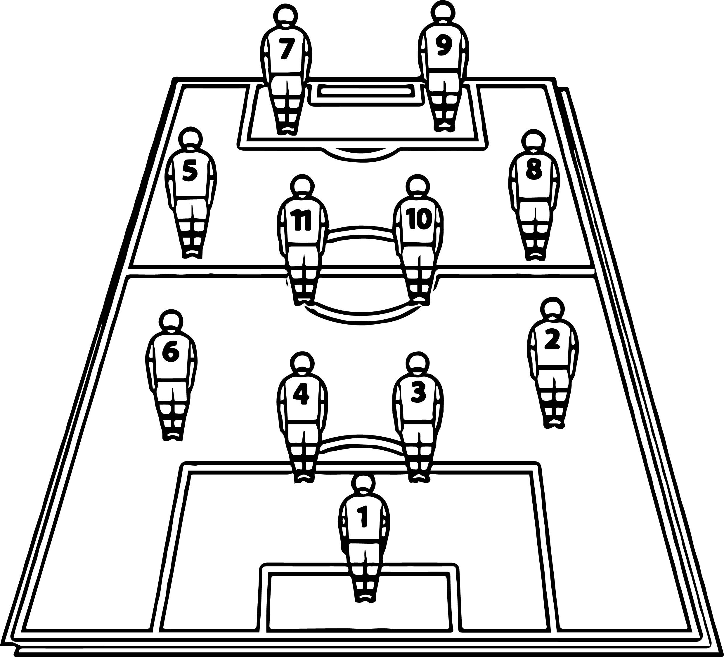 Cool Soccer Football Tactics Board Players Field Coloring Page Sports Coloring Pages Football Tactics Football Tactics Board