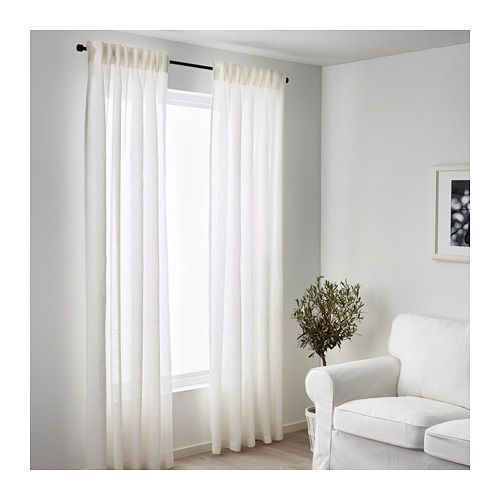 Metallbett weiß ikea  LEJONGAP Curtains, 1 pair, white white 57x98 | Bedroom | Pinterest ...