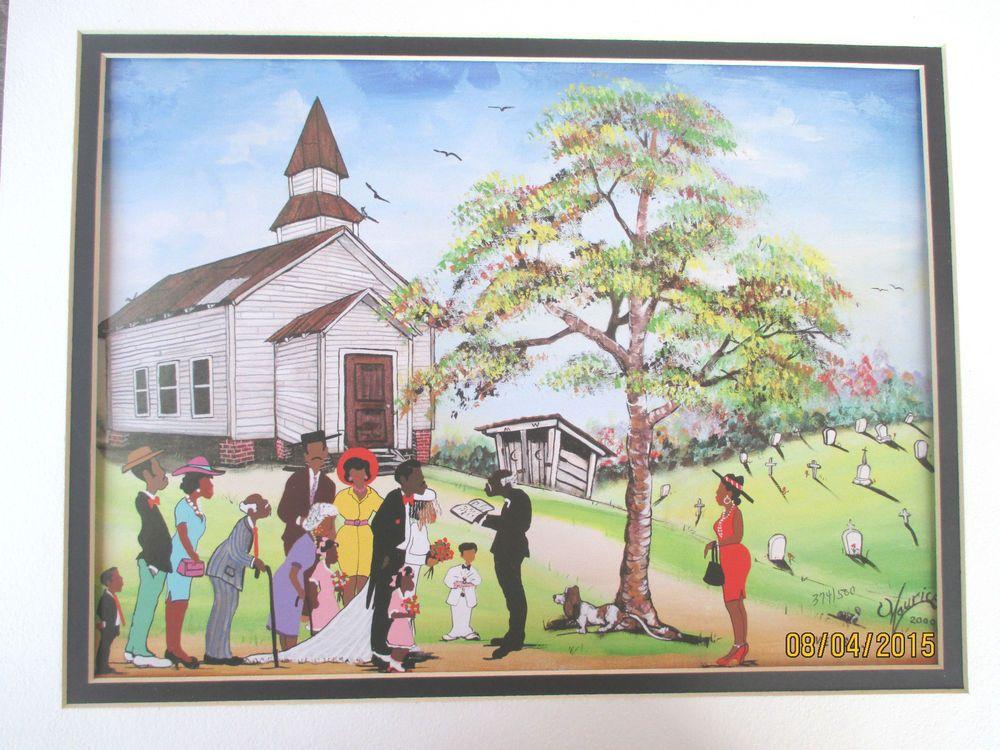 Maurice Cook Print Hand Numbered Folk Art Painter African