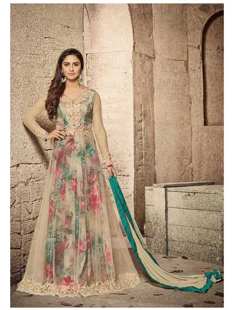Bollywood Designer embroidered Indian ethnic Gown Style Salwar ...