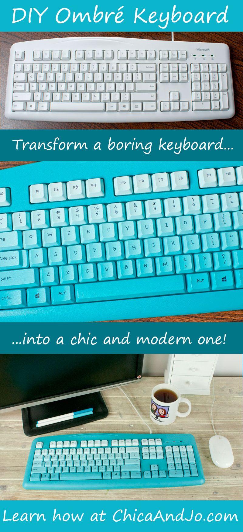 c930987ba7a DIY ombre keyboard. | DIY or Die | Diy, Diy tech y Diy ombre