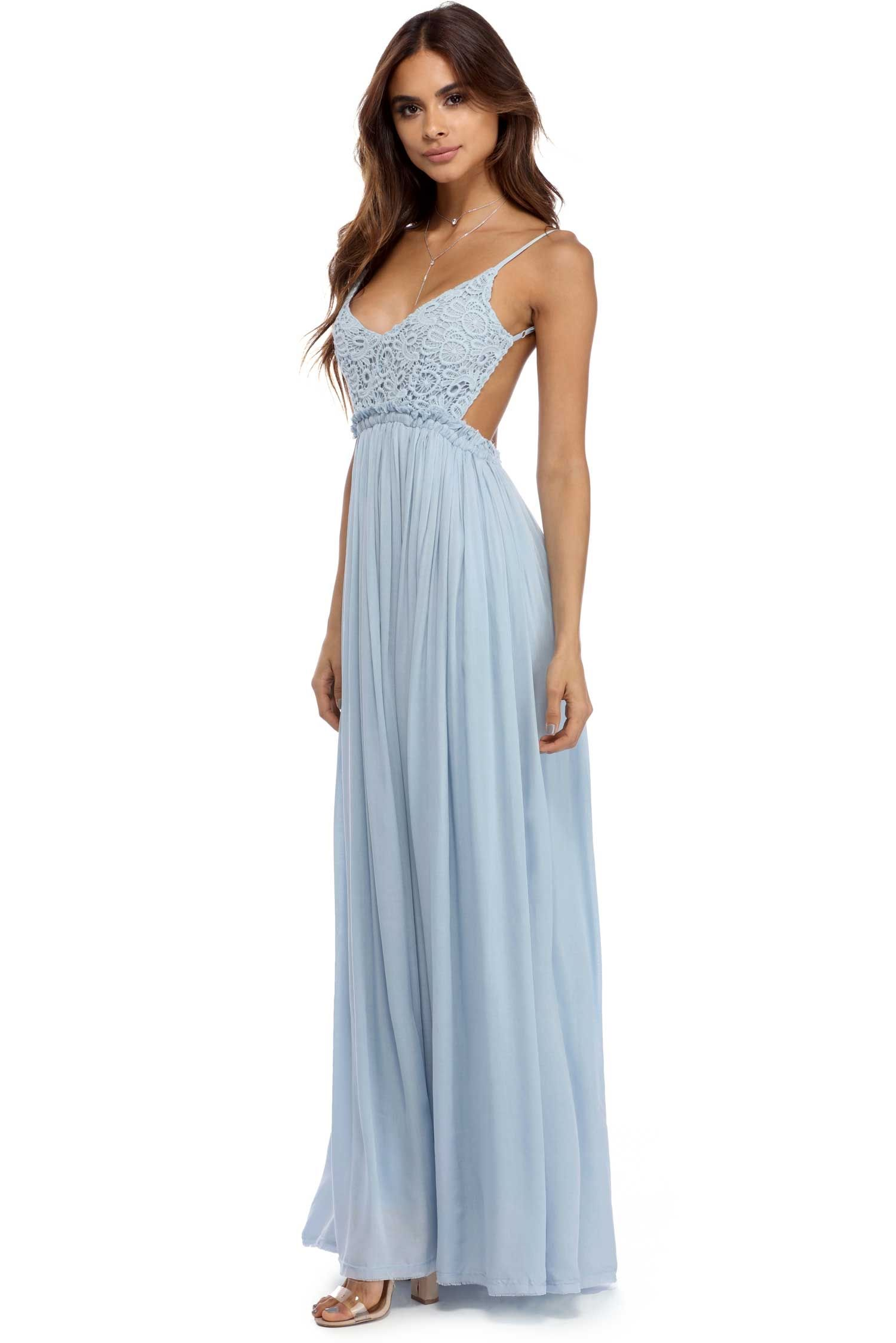 Light Blue Cloud 9 Maxi Dress | wedding |